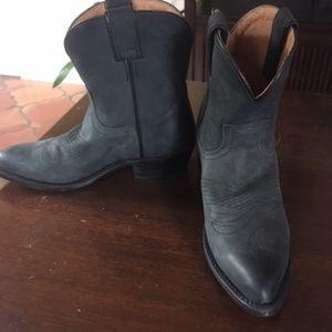 FRYE Black Cowboy Booties